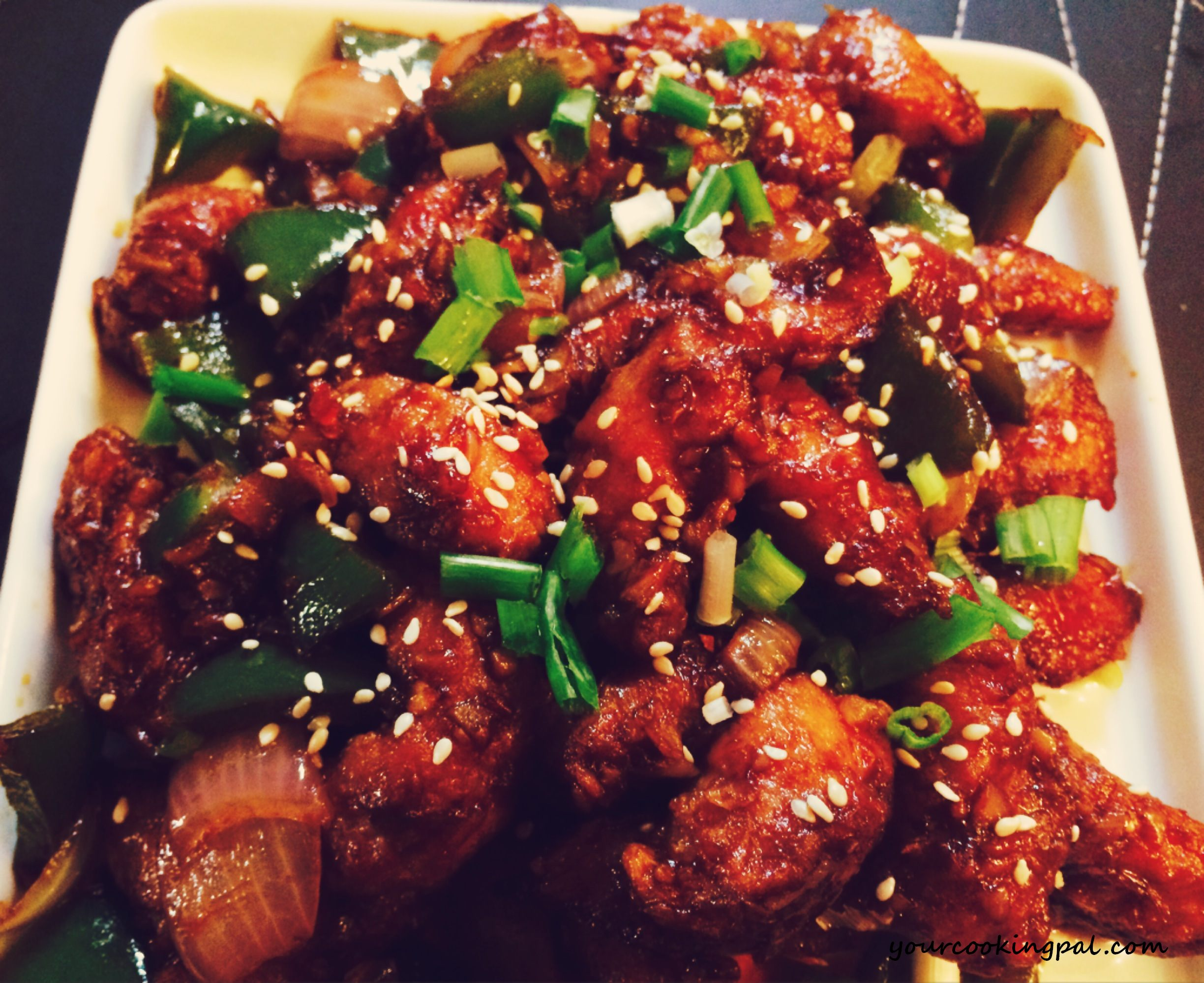 Garlic sesame chicken2