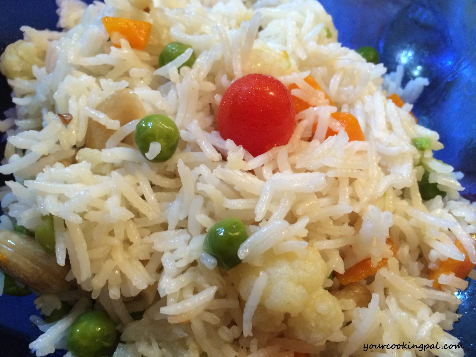 Peas and carrot pulao_half