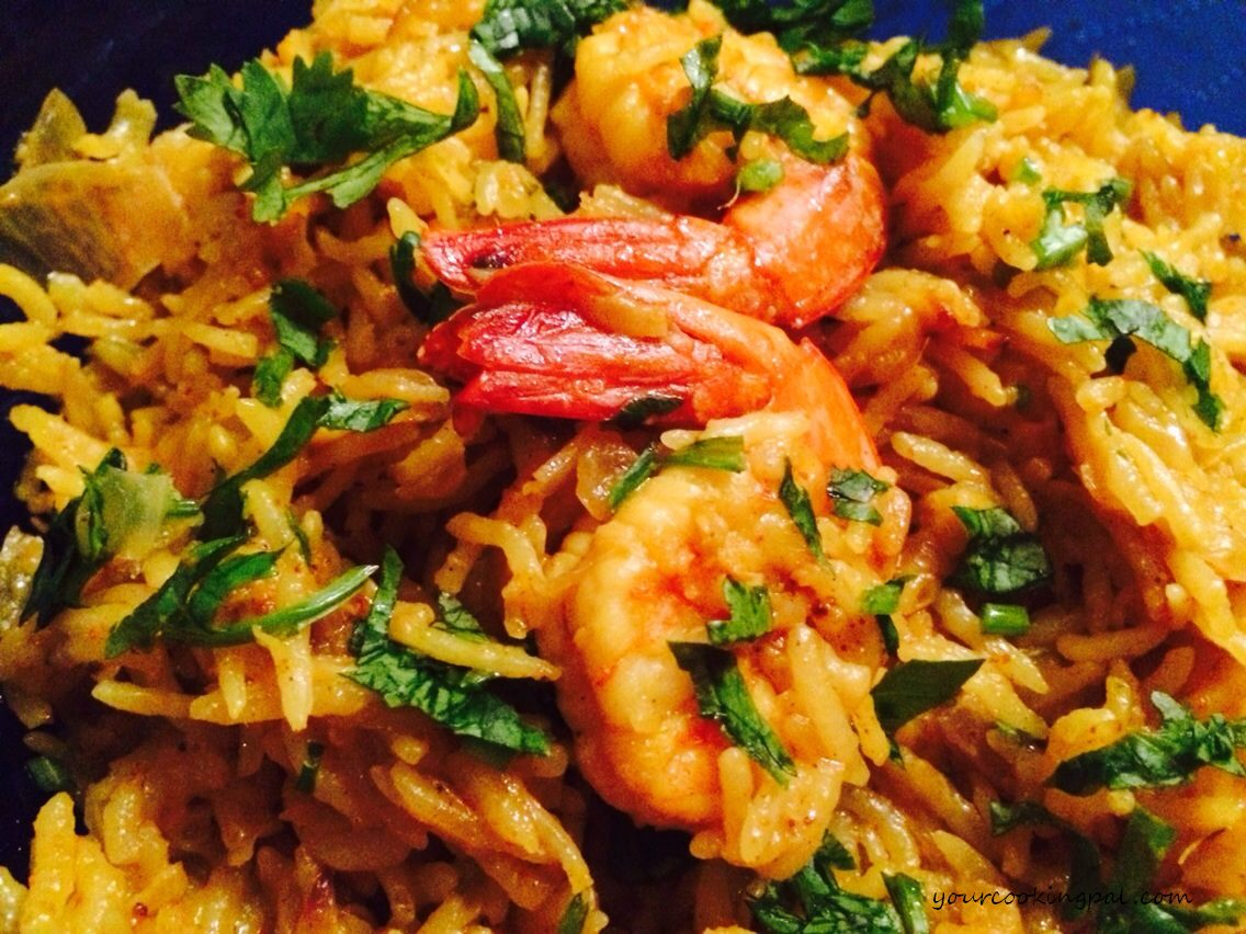 Prawn Pulao in Coconut Milk