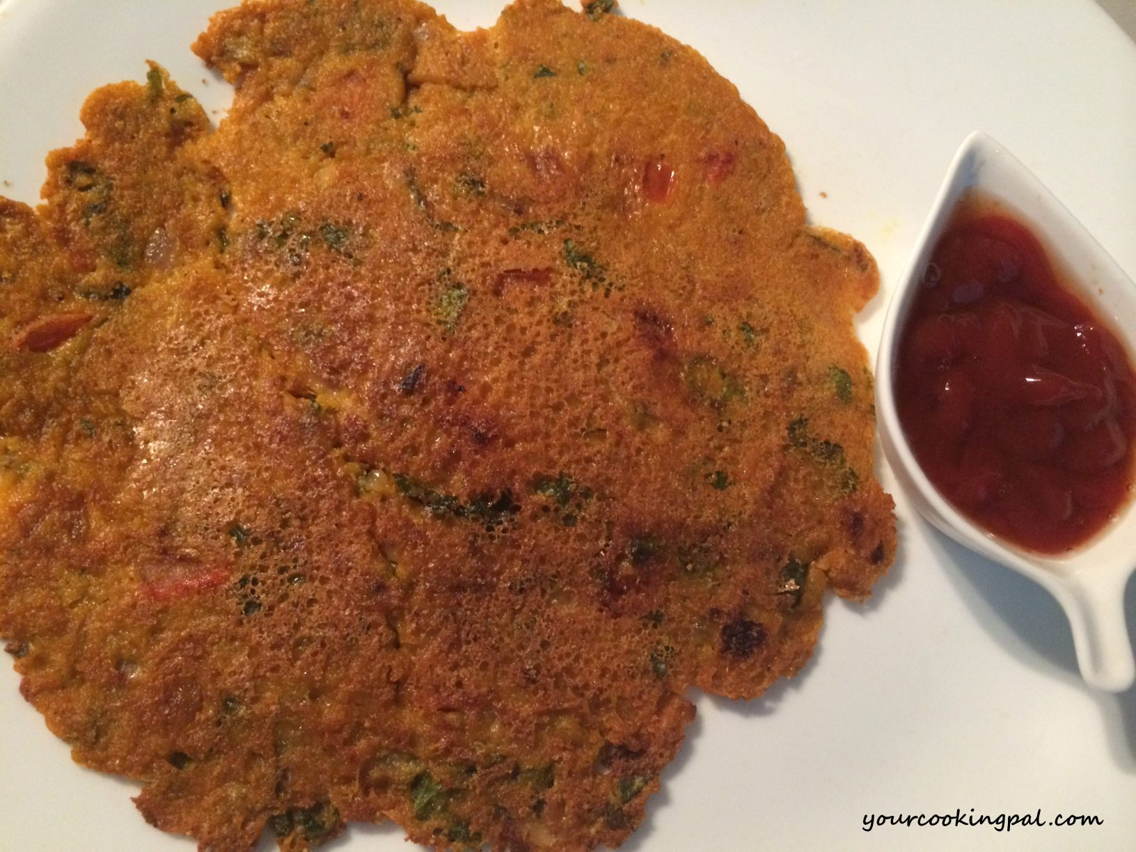 Oats and Spinach Pancake_half