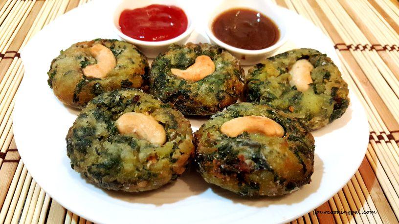 Greenvegkebabs( hara bhara kebabs)