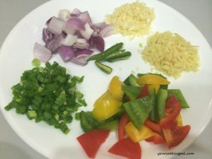 Paneer chilly ingredients