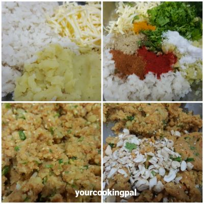 Cheese Poha Cutlet ingre
