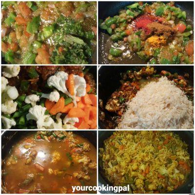 Quick Mix veg pulao _ ingre