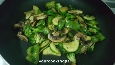 cheesy stir fried veggies 2