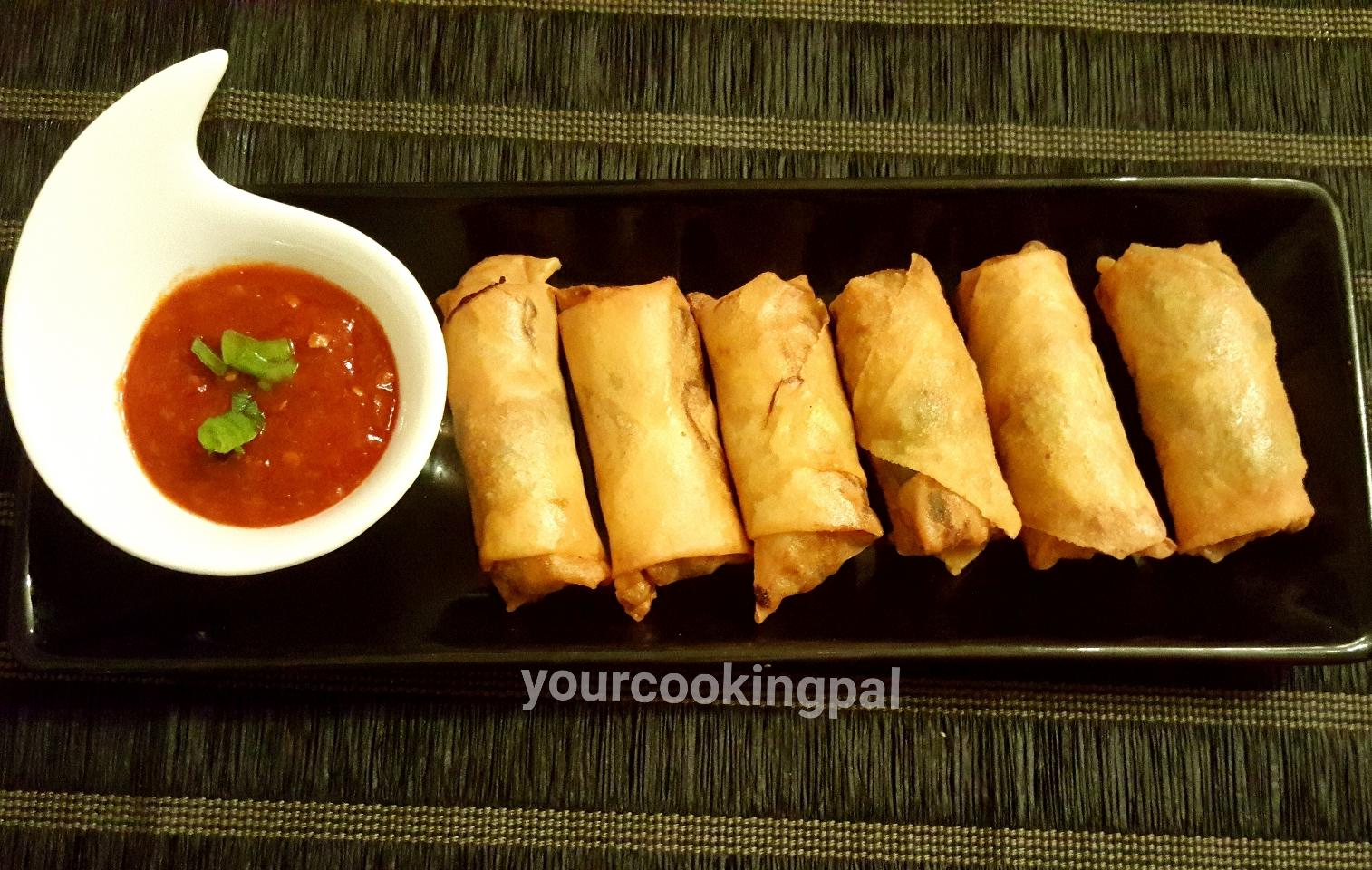spring roll cooking instructions