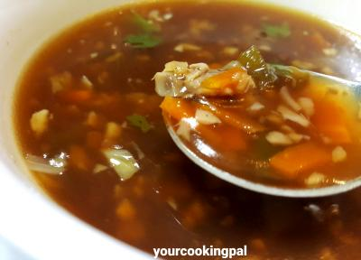 veg hor and sour soup 000002