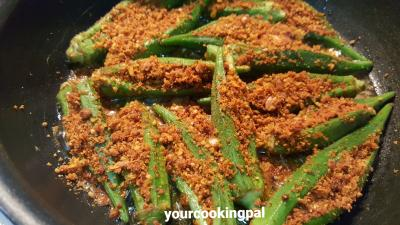 Stuffed Bhindi Fry 00009
