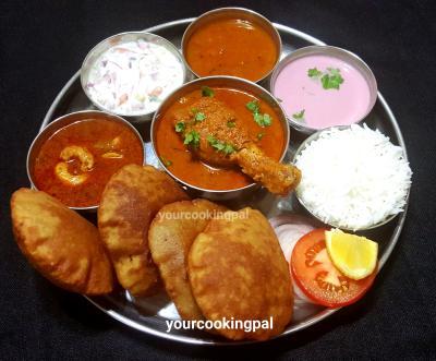 Malwani chikcken curry thali